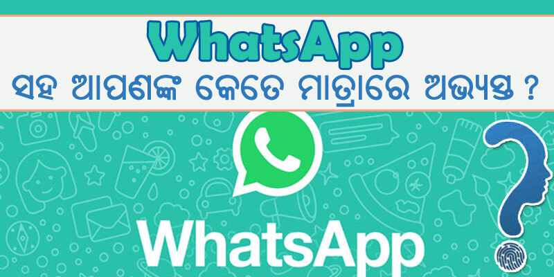 whatsapp ସହ ଆପଣଙ୍କ କେତେ ମାତ୍ରାରେ ଅଭ୍ୟସ୍ତ?